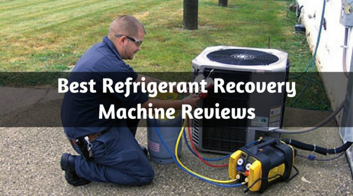Best Refrigerant Recovery Machine Reviews