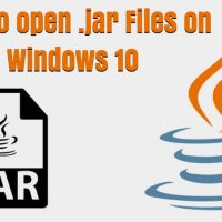 How to open .jar Files on Windows 10 – All Methods