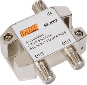 BAMF 2-Way Coax Cable Splitter Bi-Directional