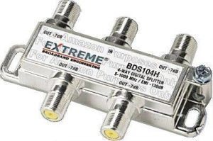 Extreme BDS104H 4 Way Coax Cable Splitter