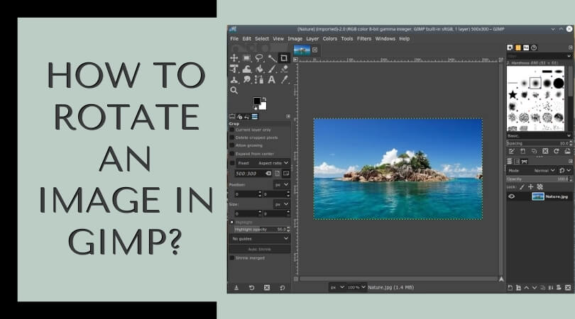 How to Rotate an Image in GIMP